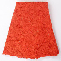 fabric - Stones polyester Guipure cord lace orange african lace quot african french lace fabric