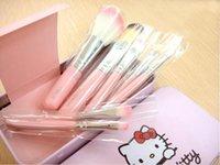 Cheap Hello Kitty 7pcs Makeup Brush Set Best iron box professional Makeup Brushes
