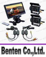Wholesale LLFA7468 x CCD REVERSING CAMERA quot LCD MONITOR WIRELESS BACKUP SYSTEM REAR VIEW KIT for bus car