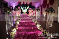 Wholesale Luxury Wedding Centerpieces Favors D Rose Petal Carpet Aisle Runner M wide For Wedding Party Decoration Supplies white milk white red