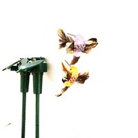 Wholesale New Solar hummingbirds Solar butterflies garden toys students enlightenment educational toys solar and battery combo GIFT
