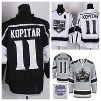 Wholesale Cheap LA Anze Kopitar Jersey Los Angeles Kings Stadium Series Home Black Road White Anze Kopitar Hockey Jerseys C patch