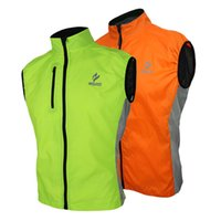 Wholesale Waterproof Men Women Ultrathin Spring Autumn Running Cycling Bicycle Vest Windproof Sleeveless Coat Jacket Clothing Casual H12761