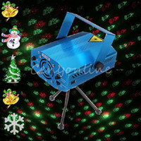 Wholesale 6 In XL Mini Red Green Voice Automatic Control RG Laser Stage Lights Projector DJ Party Xmas Trees Show Bar Club Lighting
