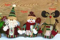 Wholesale Lovely Santa Claus Reindeer Christmas Snowman Statue Decoration Ornaments Gift Plush