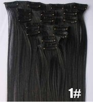 Wholesale High Temperature Clip Hair Machine Made g clips set Natural Looking Hair Extensions