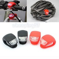 bicycle frog light - New Waterproof LED Mini Bike Warning Front Light Bicycle Silicone Beetle Frog Rear Lamp Safety Free DHL