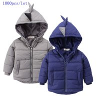 Wholesale Samgami Baby Boys girls New style long sleeve cotton winter Children Dinosaur coat Hoodies with zipper