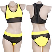 Cheap 2015 Women's Sexy Mesh fabric Bikini set bracket Swimsuit high waist bikini Swimwear Beachwear Bathing Suit 35