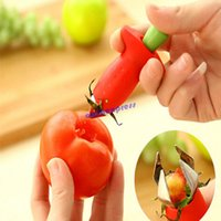 Wholesale Strawberry Tomatoes Stem Leaves Huller Remover Removal Fruit Corer Kitchen Gadgets
