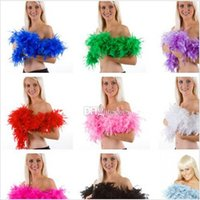 glam - 2015 Fashion Wiched Feather Boa Glam Flapper Dance Fancy Dress Costume Accessory Feather Boa Scarf Wrap Burlesque Can Can Saloon BBA3441
