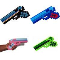 Wholesale Minecraft Bit Pixelated Gun Minecraft Gun Foam four color Foam Gun Toy quot GOOD Quality Toys