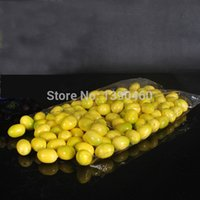 artificial lemon - 200PCS Mini Foam Fake Fruit Lemon Small Model Artificial Lemon Photography Clothing Accessories Flowers Party Wedding Decoration