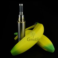 Cheap Electronic Cigarette Banana Ego Zipper e cig case Silicon banana pouch bag for electronic cigarette kits by DHL