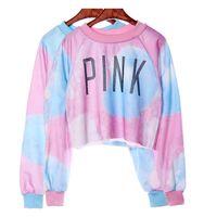 Wholesale New Arrival harajuku Fashio Women pink short Sweatshirts