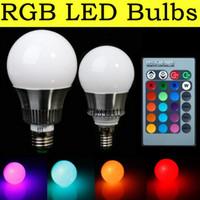 RGB LED de las Bombillas de 5W 10W E27 LED de la Luz de 900 Lumen 16 Cambio de Color de las E14 Mundo Spotlight 85-265V LED de la Lámpara con Romover Controlador de Iluminación para el Hogar