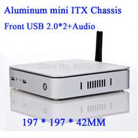 atom mini itx motherboard - ATOM D525 E450 Celeron U motherboard living room computer with aluminum mini ITX HTPC Chassis