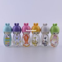 baby spray - Hot Sale Mini Edition Baby ml Perfume Bottle Lovely Egg Doll Painted Empty Glass Perfume Bottles Spray Refillable Parfum Containers