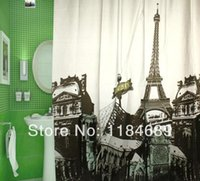 shower curtain - Paris Eiffel Tower Shower Curtain With shower Curtain Ring cm Soft and Waterproof