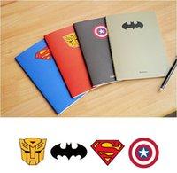 Wholesale Hot superman series notebook superman batman iron man captian of america Best Gift DHL EMS WF30