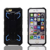 Wholesale Military Robot hybrid durable shockproof kickstand case cover skin shell for iPhone iPhone Plus heavy duty fashion case cover
