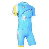 bib rock - Cycling Clothing Blue ASTANA Outdoor Bike Cycle Team Jerseys Clothes Bib Shorts Pants Rock Racing Bicycle Suits