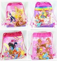 Wholesale 4styles WINX dancer drawstring bags WINX dancers backpacks handbags children s school bags kids shopping bags present Child infant handbag