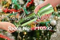 Wholesale 12pc box Retail Christmas Crackers Favours Wedding Decorations Crackers Tea Party Decoration