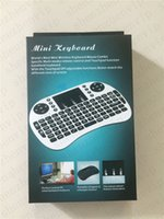 Wholesale I8 Fly Air Mouse G Mini Wireless Keyboard Mouse for PC Notebook Android TV Box White and Black USB Cable Retail packing Touchpad