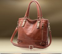 Wholesale Hot Sale New Fashion Brand GENUINE LEATHER Designer Handbag Women Vintage Tote Cow Leather Stylish Ladies Shoulder Messenger Bags