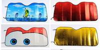 Wholesale Car Sunshade Sun shield CM Foldable Car Auto Mix Color shield Sun shade Cover for Front Back Car Sun Block Sun Visor Fashion