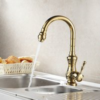 Wholesale 360 Swivel Gold Poished Sink Kitchen Fauces Basin Embossed Mixer Basin Faucet