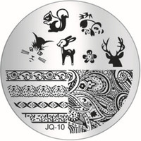 Wholesale Fashion Design JQ Series Nail Art Image Stamp Stamping Plates Manicure Template