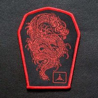 Wholesale Twill Knitting Armband cm Velcro Morale Patches Military Armband Velcro Badges Button Outdoor Chinese Dragon Velcro Patch