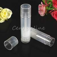 Wholesale 50pcs Empty Clear LIP BALM Tubes Containers Transparent Lipstick fashion cool lip tubes Bottle Containers