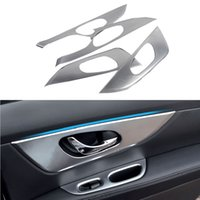 Wholesale 4 Car Styling Inner Door Bowl Decoration Cover For Nissan Qashqai J11 nd ABS Interior Decoration
