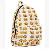 50pcs CCA1946 Moda Emoji Stampa tela caratteristiche Tasca con Cerniera Ragazzi Ragazze donna Uomo Zaini di Donne e di Uomini Zaino Borse all'Aperto Pack