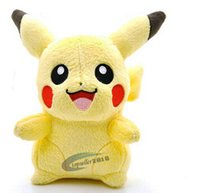 Wholesale 6 quot Plush Pikachu dolls Pokemon anime toys Cuddly gifts baby dolls Stuffed toys soft Christmas gifts