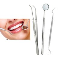 Wholesale Dental Examination Kit Basic Hygiene Cleaning Set Mirror Scaler Explorer Probe