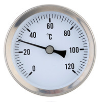 Wholesale 63mm Bi metal Thermometer Clip on Temperature Gauge Dial with Spring degree termometer Instruments