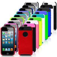 al por mayor caso del iphone de goma en un extremo-A prueba de golpes híbrido suave dura resistente caso de la cubierta de goma para el iPhone de Apple 6 4.7 pulgadas manzana 6 más borde Samsung s6 s6
