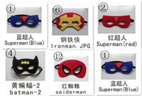 Unisex batman costume video - 2015 Superhero mask Superman Batman Spiderman IronMan Captain America Wolverine Halloween Party Costumes for Kids MJ18