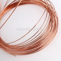 Cheap Wholesale-0.8mm 20 Gauge Soft Pure Bare Copper Bright Wire Coil for Jewelry or Crafts Making 10m roll DIY Natural Red Copper Wire