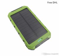 Wholesale 500pcs High quality LED Dual USB solar power bank Panel Battery solar portable Charger mah For xiaomi Mobile Phone TY