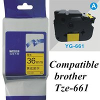 brother printer - TZe mm black on yellow TZe brother Label Tape Compatible for Brother P Touch brother printer ribbons