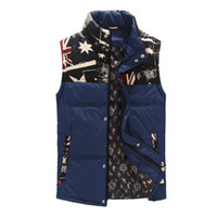 Wholesale Fall Men s Winter Solid Down Vest White Duck Down Padded Waistcoat Men Branded Stand Collar Down Vest Men Outdoor ou
