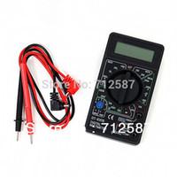 Wholesale AC DC Ammeter Voltmeter Ohm Electrical Tester Meter Professional Digital Multimeter DT830B Shipping