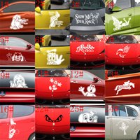 animal boarding - 25 styles mixed Small Size Car Sticker Cool on Board Car Styling Motorcycle Sticker Vinyl Decal Personalized Waterproof Car Decals