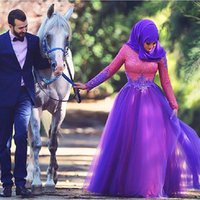 blue deep clothing - Turkish Clothing Islamic Muslim Evening Dresses Long Sleeve With Hijab Arabic Women Long Evening Gowns Dubai Kaftan Dress
