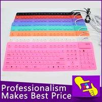 Wholesale-10pcs / lot 108 teclas portátil plegable impermeable flexible suave silicona MINI CABLE teclado USB para Tablet PC